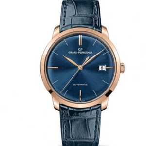 FK Girard Perregaux 1966 Series 49525-52-432-BB4A Men's Mechanical Watch Rose Gold Blue PlateFK Girard Perregaux 1966 Series 49525 Men's Mechanical Watch Rose Gold Black Plate