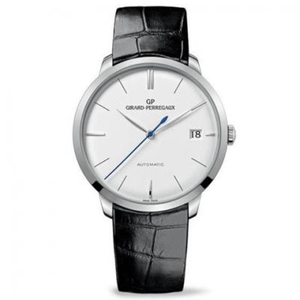 FK Girard Perregaux 1966 Series 9525-53-131-BK6A Men's Mechanical Watch White Plate Blue Hand