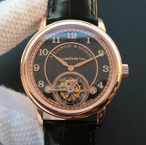 LH Lange 1815 series 730.32 sandblasted limited edition manual tourbillon movement men's watch