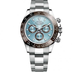 Jf Factory Rolex Cosmic Timepiece Daytona 116506-78596 V6s Version Ice Blue Surface Ceramic Ring, 4130 Automatic