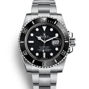 ar factory top replica Rolex Submariner series black water ghost classic watch 116610LN factory new